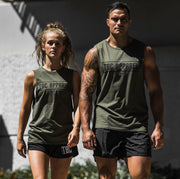 TBC Unisex Muscle Tank // Army Green