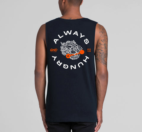 GND Big Cat Barbell Tank // Navy