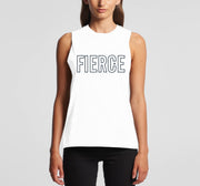 GND Fierce womens tank top white front