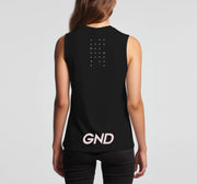 GND womens tank top black back