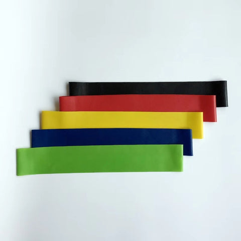 mini loop resistance band pack - 5 colors
