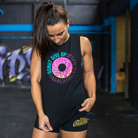 Unisex Muscle Tank // Donut Give Up