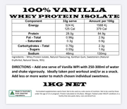 GND Vanilla Whey Protein Isolate 1kg