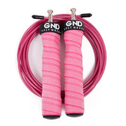 high speed skipping rope - pink (top view)