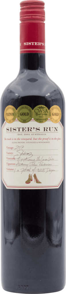 Sister's Run Epiphany Shiraz 2017
