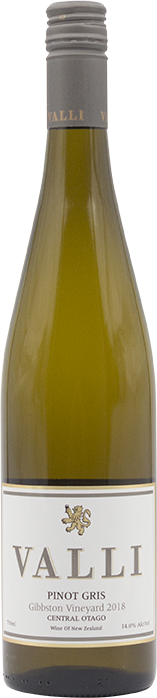 Valli Gibbston Pinot Gris 2018
