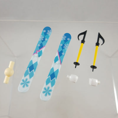 570 -Snow Owl Miku's Skis & Ski Poles with Gloved Hands