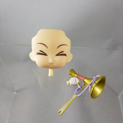 337-2 -Irine's Blowing a Trumpet Faceplate & Horn