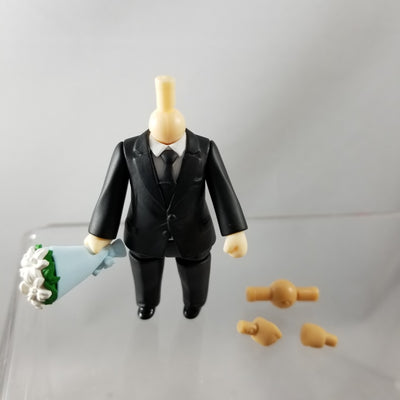 Nendoroid More: Dress Up Suits 02 - Male Black Suit with Bouquet with Cream and Cinnamon Hands