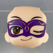 Nendoroid More Face Swap 04: Purple Mardi Gras Face