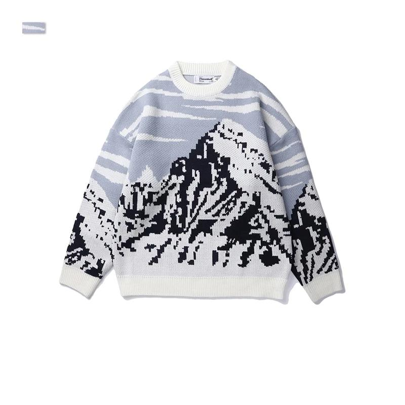 SIMPLE | MOUNT SCENERY SWEATER