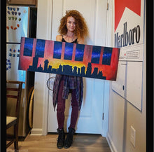 Load image into Gallery viewer, City stars Nashville skyline acrylic painting