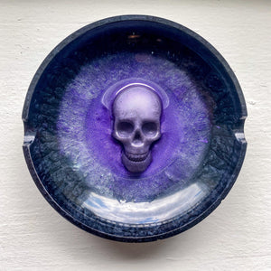 Hippie Speedball skull handmade resin tray