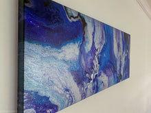 Load image into Gallery viewer, Purple places large pour painting