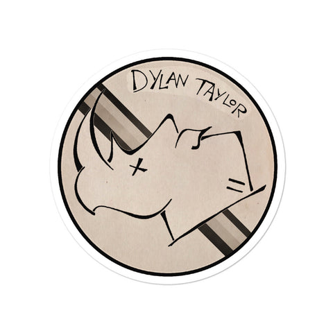 Dylan Taylor White Rhino Bubble-free stickers