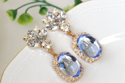 Dusty blue wedding bridal jewelry