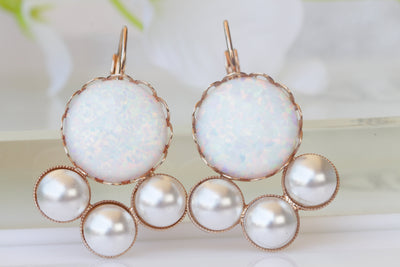 opal pearl earrings