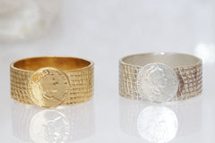 coin handmade ring