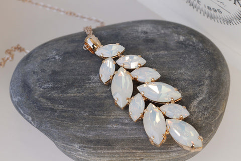 opal swarovski necklace