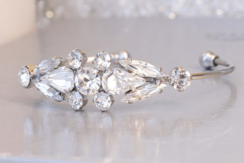Clear crystal bridal bracelet