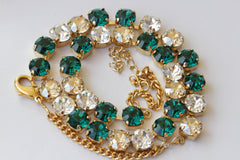 emerald swarovski necklace