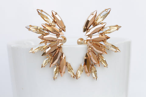 champagne rose gold earrings