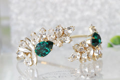 Emerald wedding bracelet