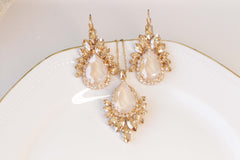 Champagne and ivory earrings