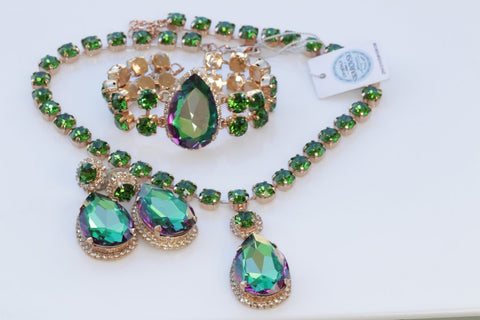 emerald green jewelry sets