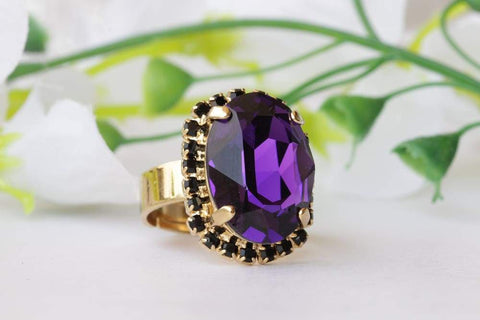 gold and black ring women's