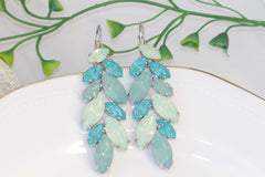 mint and turquoise earrings