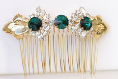 hair comb with leaves