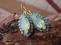 mint opal earrings