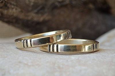 14K Gold Wedding Set