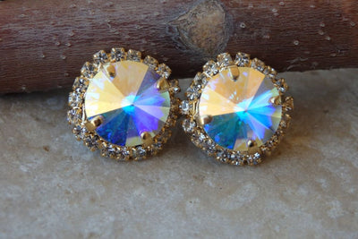 Ab Swarovski Stud Earrings