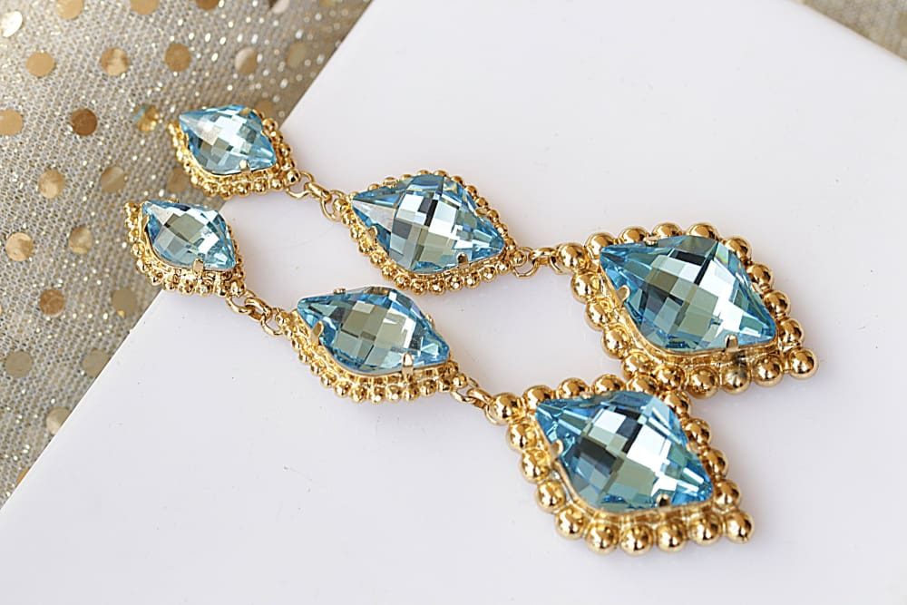 Aquamarine Chandelier Earrings