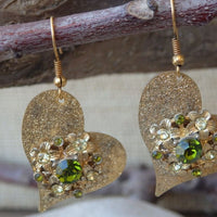 Asymmetric Heart Swarovski Earrings