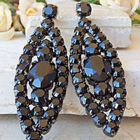 Black Cocktail Earrings