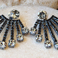 Black Diamond Ear Jackets