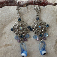 Blue Eye Earrings. Evil Eye Earrings