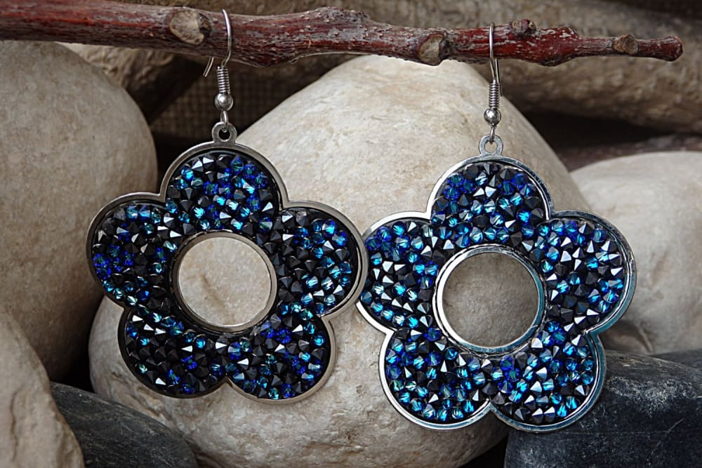 Blue Swarovski Earrings