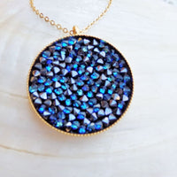 Blue Swarovski Pendant Necklace