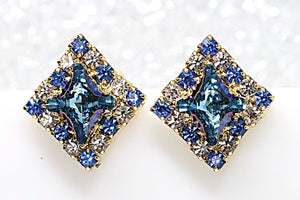 Blue White Earrings