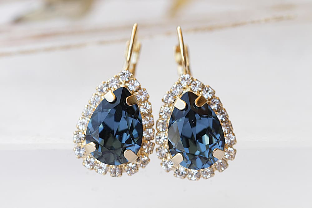 Bridal Blue Earrings