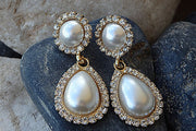 Bridal Teardrop Pearl Earrings