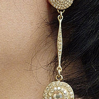 Champagne Crystal Stud And Drop Earrings