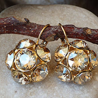 Champagne Flower Earrings