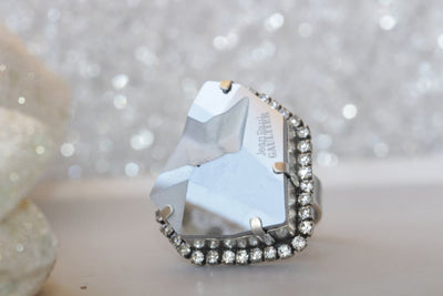 Cocktail Silver Ring
