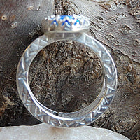 Double Band Opal Ring