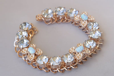 Dusty Blue Swarovski Crystal Bracelet